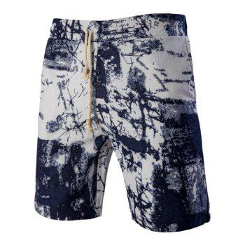 Printed Elastic Waist Board Shorts For Men