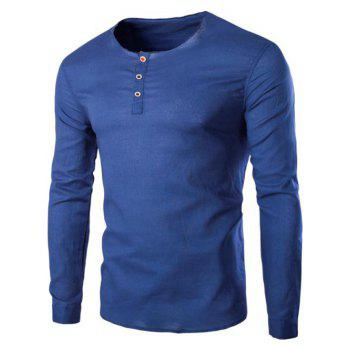 Men's Trendy Solid Color Pullover T-Shirts
