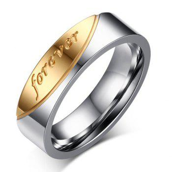 One Piece Engraved Forever Ring