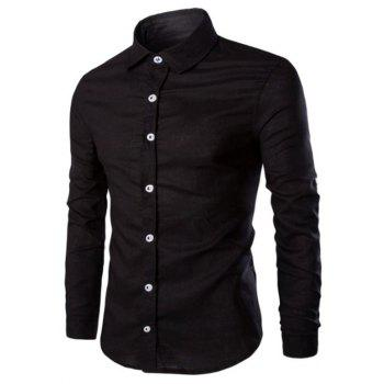 Men's Casual Solid Color Single Breasted Shirts