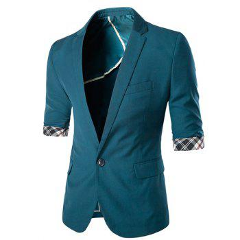 Slimming Three Quarter Sleeve Solid Color Men's Blazer