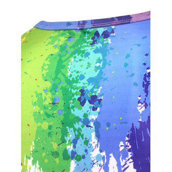 3D Splatter Paint Crew Neck T-Shirt - COLORMIX M