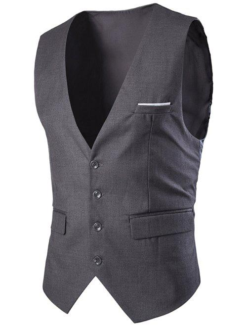 Slimming Single Breasted Men's Solid Color Waistcoat 247 classic