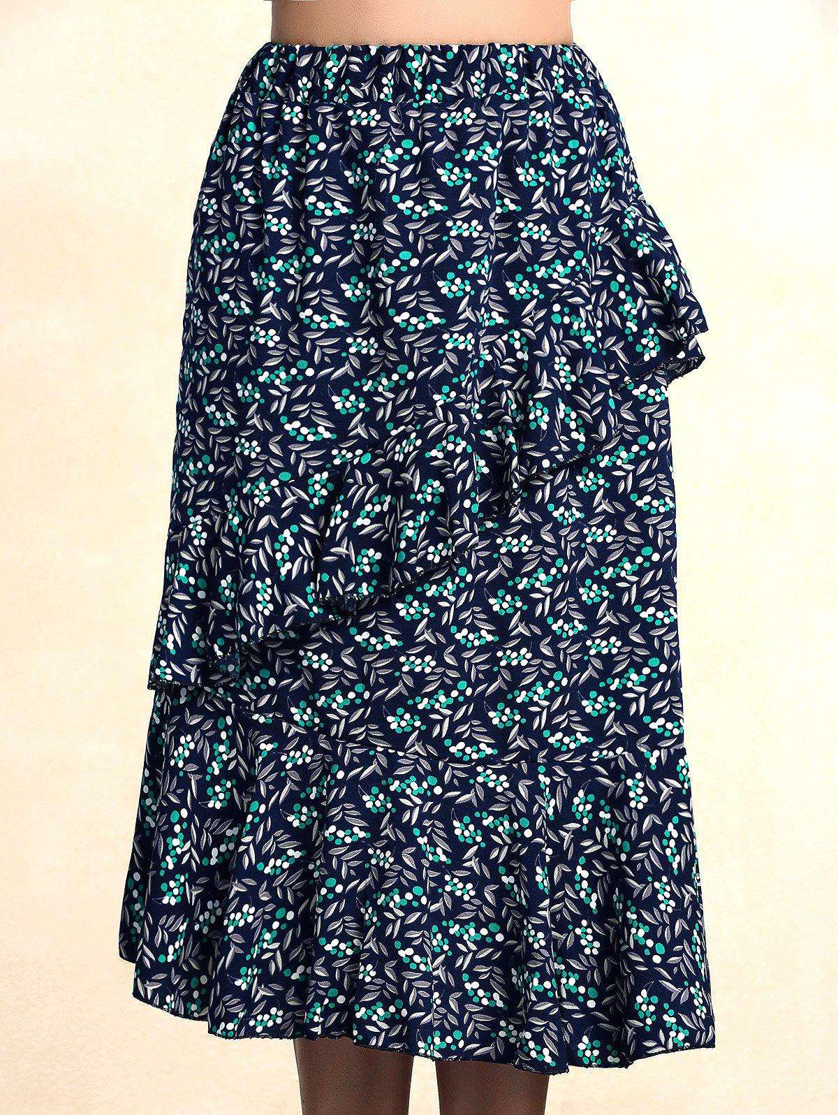 Charming Stretchy Print Women's Skirt - ONE SIZE(FIT SIZE XS TO M) COLORMIX