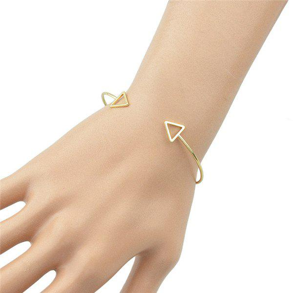 Hollow Out Triangles Embellished Cuff Bracelet - GOLDEN