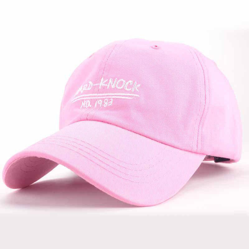Chic Letters Numbers Embroidery Bright Color Fresh Summer Women's Baseball Cap - PINK