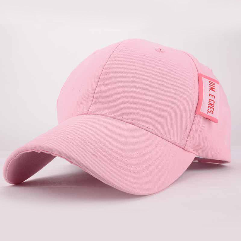 Chic Letter Tag Embellished Fresh Summer Women's Baseball Cap - PINK