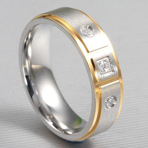 One Piece style simple Geometirc strass femmes s 'Ring - Argent