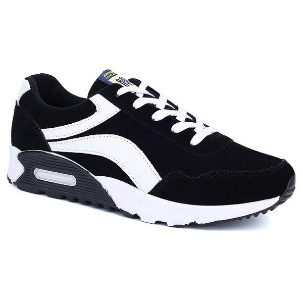 Leisure Suede and Color Block Design Women's Athletic Shoes