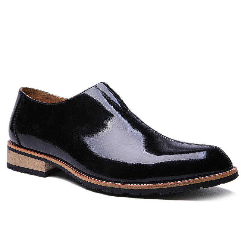 Fashionable Black Colour and Elastic Design Men's Formal Shoes