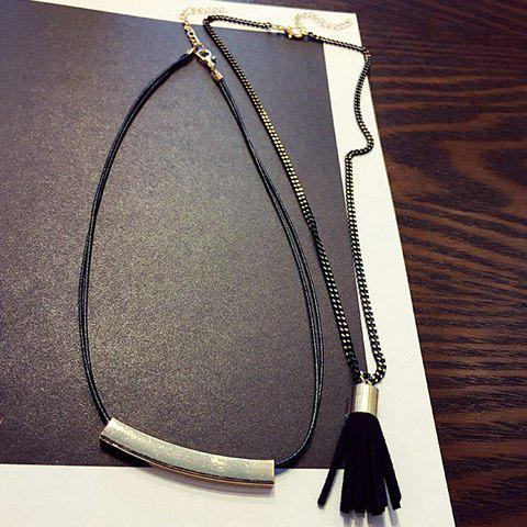 A Suit of Chic Tassel Chain Necklaces For Women - GOLDEN