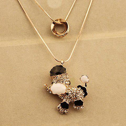 Stunning Layered Rhinestone Puppy Sweater Chain For Women