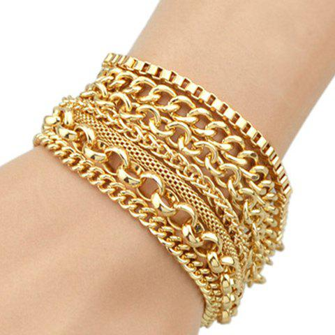 Gorgeous Solid Color Multilayer Chain Bracelet For Women
