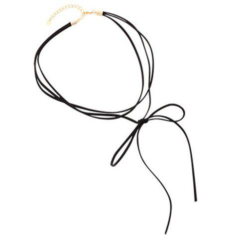 Bowknot Choker Necklace - BLACK