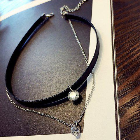 Graceful Layered Rhinestone Choker Necklace For Women