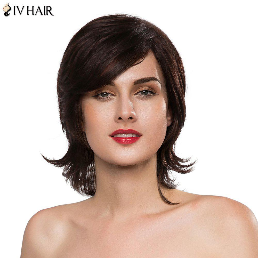 Towheaded Wave Siv Hair Capless Stylish Side Bang Medium Women's Real Natural Hair Wig - MEDIUM BROWN