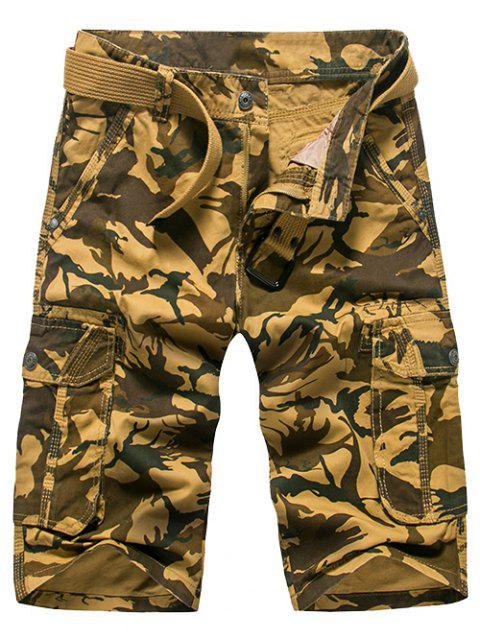 Fashion Loose Fit Camo Imprimé Men 's Cargo Shorts - Kaki 31