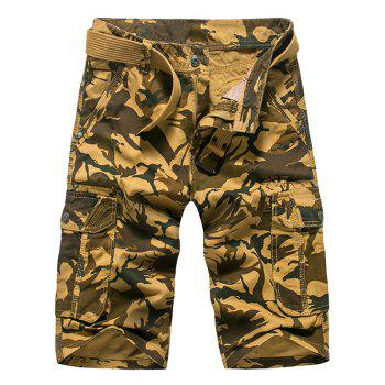 Fashion Loose Fit Camo Printed Men's Cargo Shorts