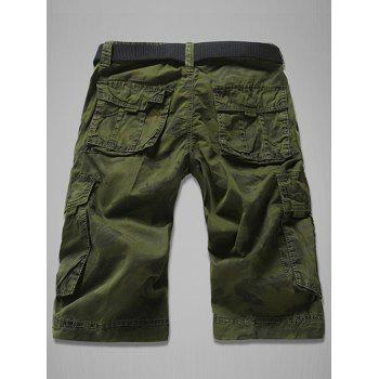 Fashion Loose Fit Multi-Pockets Camo Printed Men's Cargo Shorts - ARMY GREEN 30