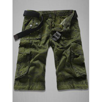 Fashion Loose Fit Multi-Pockets Camo Printed Men's Cargo Shorts