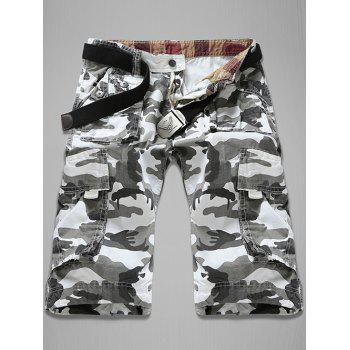 Trendy Loose Fit Multi-Pockets Camo Printed Men's Cargo Shorts