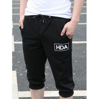 Casual Loose Fit Lace Up Solid Color Men's Shorts