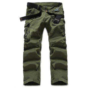 Solid Color Cargo Pants For Men