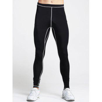 Men's Slimming Elastic Waist Stripes Printed Training Pants