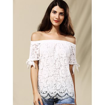 Off The Shoulder Lace Blouse