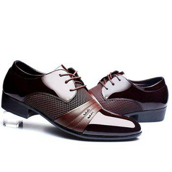 Stylish Splicing and Pointed Toe Design Men's Formal Shoes - BROWN 41
