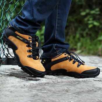 Trendy Hit Color and Lace-Up Design Men's Athletic Shoes - 44 44