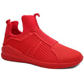 Slip On Mesh Sneakers - RED 44