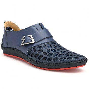 Buy Fashion Buckle Breathable Design Men's Casual Shoes DEEP BLUE