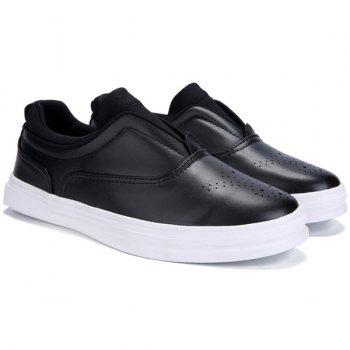 Stylish Solid Colour and Breathable Design Men's Casual Shoes - BLACK 43