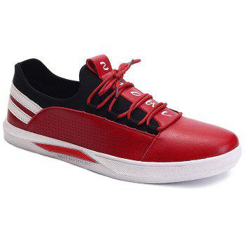 Fashionable Striped and Splicing Design Men's Casual Shoes