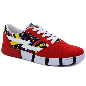 Fashionable Suede and Multicolour Design Men's Casual Shoes