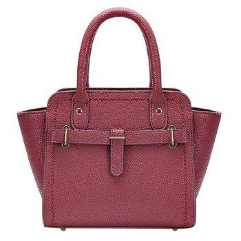 Graceful Solid Color and Stitching Design Women's Tote Bag