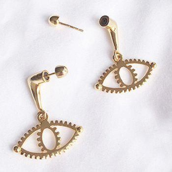 Pair of Eye Shape Hollow Out Earrings