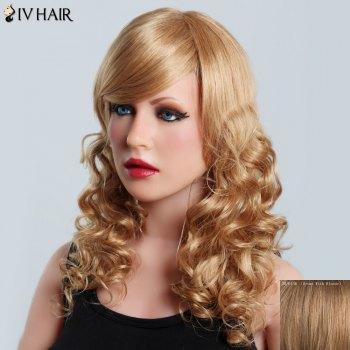 Shaggy Curly Capless Charming Side Bang Long Siv Hair Human Hair Wig For Women