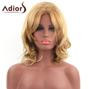 Fluffy Wavy Adiors Synthetic Ladylike Light Blonde Mixed Medium Capless Wig For Women - COLORMIX