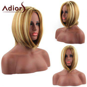 Bob Style Straight Synthetic Stunning Mixed Color Medium Capless Adiors Wig For Women