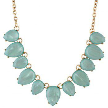 Alloy Water Drop Necklace - BLUE