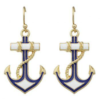 Pair of Anchor Drop Earrings