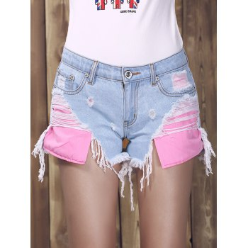 Trendy Ripped Denim Shorts For Women