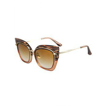 Chic Striped Cat Eye Frame Sunglasses For Women - TEA-COLORED TEA COLORED