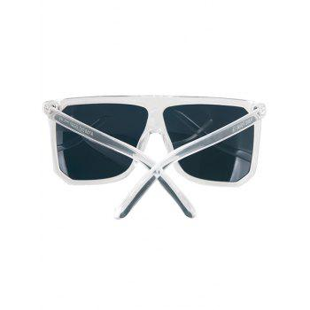 Chic Big Quadrate Frame Transparent Sunglasses For Women -  TRANSPARENT
