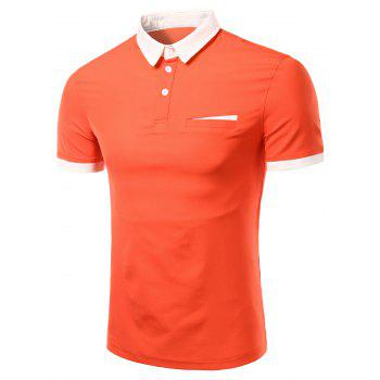 Men's Fashion Turn-down Collar Solid Color Short Sleeves Polo T-Shirt - JACINTH JACINTH