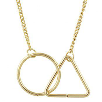 Geometric Multilayered Necklace - GOLDEN