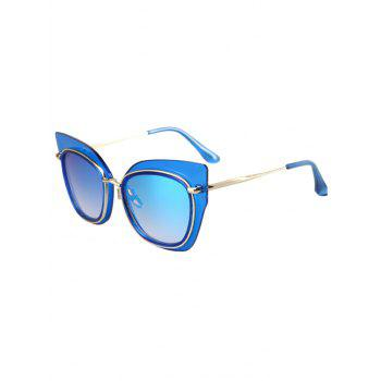 Chic Alloy Match Cat Eye Frame Sunglasses For Women - BLUE BLUE