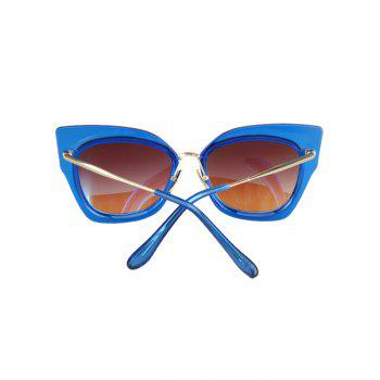 Chic Alloy Match Cat Eye Frame Sunglasses For Women -  BLUE